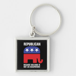 Republicano - porque o bem-estar não é uma chaveiro quadrado na cor prata