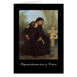 Requiem - cartão de simpatia católico - Bouguereau