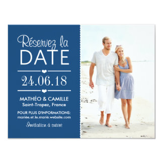 Réserver la Date du Mariage | Cartes Avec Photo Convite 10.79 X 13.97cm