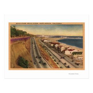 Residências da praia das estrelas de cinema cartão postal