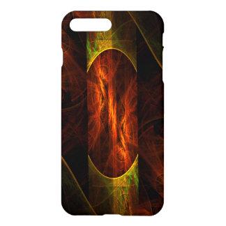Resíduo metálico da arte abstracta da selva da capa iPhone 7 plus