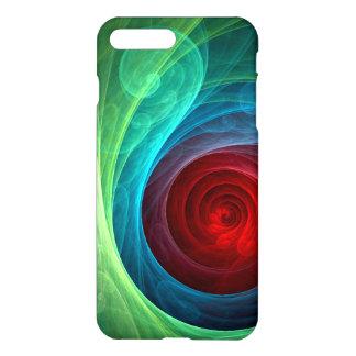 Resíduo metálico da arte abstracta de Red Storm Capa iPhone 7 Plus