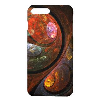 Resíduo metálico fluido da arte abstracta da capa iPhone 7 plus