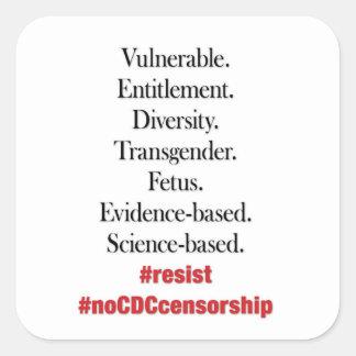 Resista a censura do CDC. Etiquetas