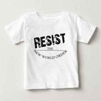 Resista o ordem mundial novo t-shirt