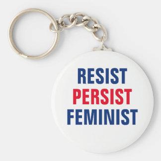 Resista persistem mulheres feministas da chaveiro