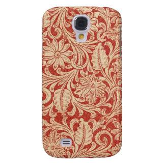 Resistente vívido floral do vermelho HTC do damasc