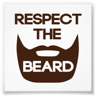 Respeite a barba impressão de foto