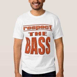 Respeite o baixo t-shirt