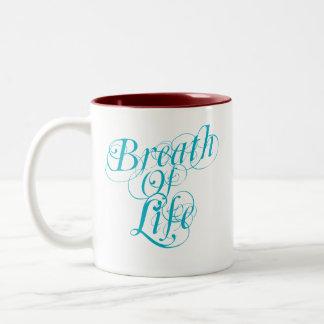 Respiração da vida caneca