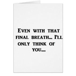 Respiração final cartão comemorativo