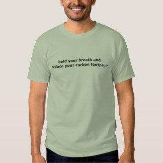 Respire a camisa de T - verde de pedra T-shirt