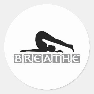 RESPIRE a ioga Adesivo