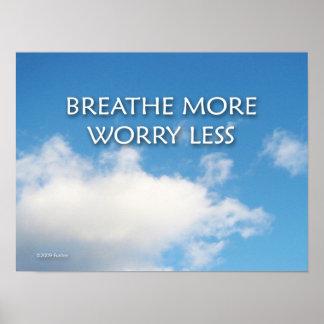 Respire mais preocupação menos poster