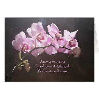 Resposta à oração cartão comemorativo