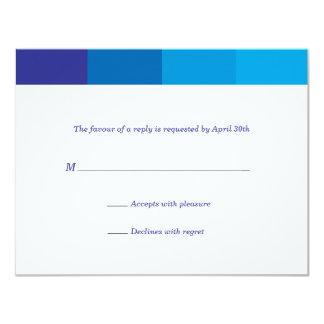 Resposta azul Tonal de Mitzvah do bar Convite 10.79 X 13.97cm