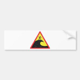 Ressacas surfando do surfista adesivo para carro
