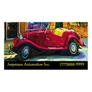 Restauração automotriz de carros clássicos cartão de visita