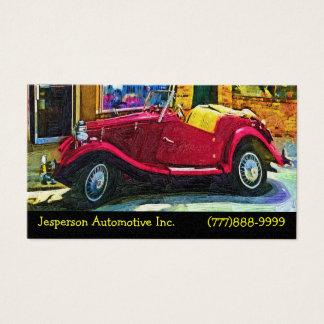 Restauração automotriz de carros clássicos cartão de visitas