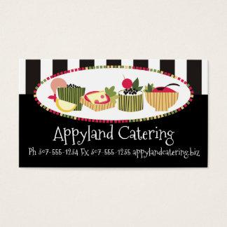 Restauração do cozinheiro chefe dos aperitivos dos cartão de visitas