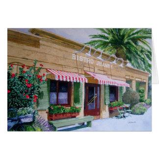 Restaurante Napa Valley de Jeanty dos restaurantes Cartão Comemorativo