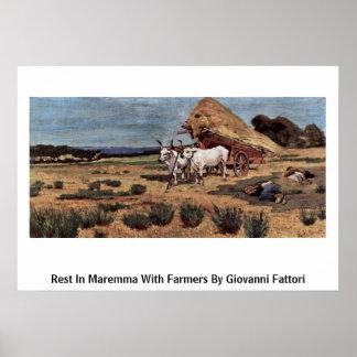 Resto em Maremma com os fazendeiros por Giovanni F Impressão