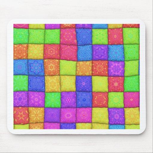 retalhos coloridos mousepads