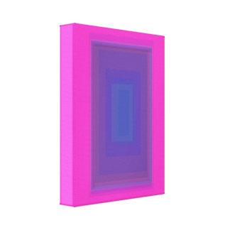 Retângulo azul impressão de canvas esticadas