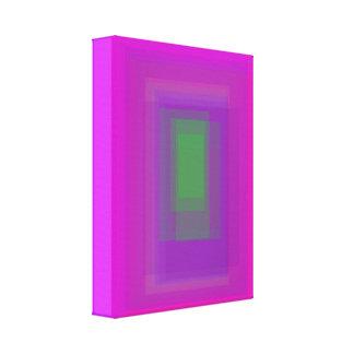 Retângulo verde impressão de canvas esticada