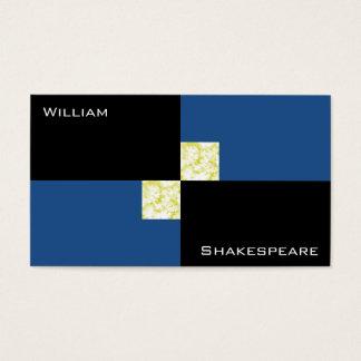Retângulos azuis e pretos modernos cartão de visitas