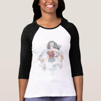 Reticulação da mulher maravilha camiseta