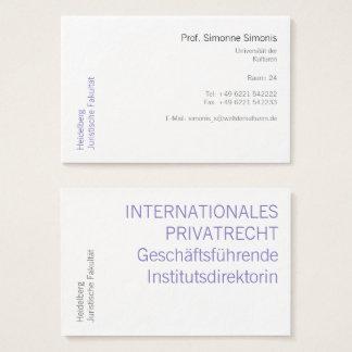 Retirado e claro cartão de visitas