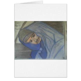 Retrato #3 no final do giz cartão