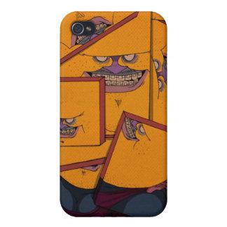 Retrato amarelo iPhone 4 capas