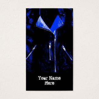 Retrato azul do preto do cartão de visita do