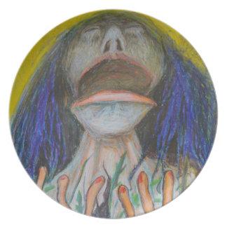 Retrato com lagartos prato