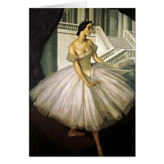 Retrato da bailarina Anna Pavolva Cartão De Nota