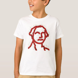Retrato da cereja de George Washington Camiseta