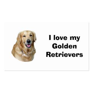 Retrato da foto do cão do golden retriever cartão de visita