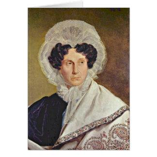 Retrato da mãe dos artistas por Alfred Rethel Cartão Comemorativo
