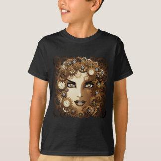 Retrato da menina de Steampunk T-shirt