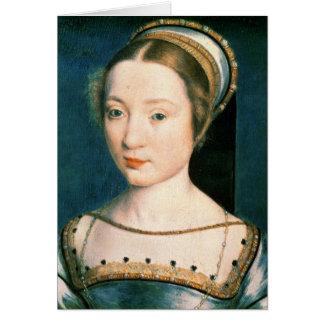 Retrato da rainha Claude Cartão Comemorativo