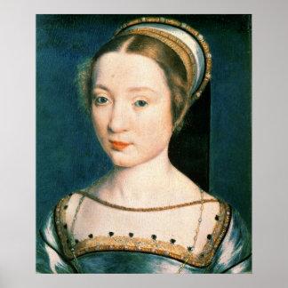 Retrato da rainha Claude Pôster