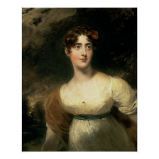 Retrato da senhora Emily Harriet Wellesley-Pólo Poster