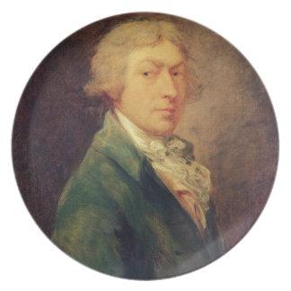 Retrato de auto, 1787 (óleo em canvas) 2 louças de jantar