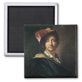 Retrato de auto em um turbante, 1700 ímã quadrado