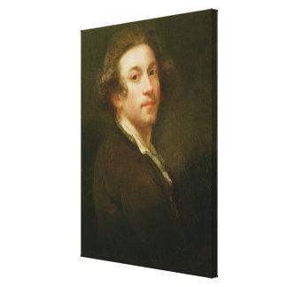 Retrato de auto, olhando sobre o ombro direito (ól impressão em canvas
