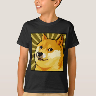 Retrato de auto quadrado do Doge de Meme do Doge Camiseta