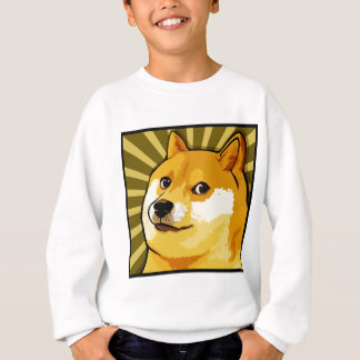 Retrato de auto quadrado do Doge de Meme do Doge T-shirt