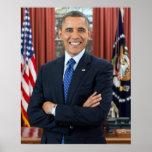 Retrato de Barack Obama Poster